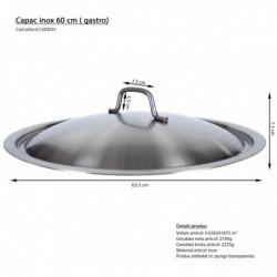 Capac inox 35 cm gastro